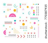 pattern hipster abstract vector ...   Shutterstock .eps vector #770387935
