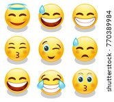 emoji smiley face vector design ... | Shutterstock .eps vector #770389984