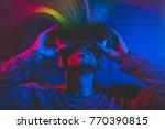 technological concept men using ... | Shutterstock . vector #770390815