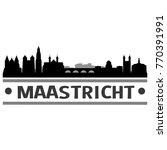 maastricht netherlands skyline...   Shutterstock .eps vector #770391991