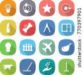 flat vector icon set   bulb...   Shutterstock .eps vector #770397901