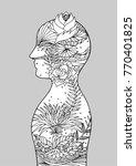 abstract art chakra reiki power ... | Shutterstock .eps vector #770401825