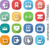 flat vector icon set   touch