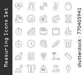 measuring icons set