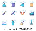 cleaning tool icon series in... | Shutterstock .eps vector #770407399