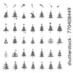 christmas tree icons.... | Shutterstock . vector #770408449