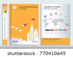 cover book design template with ... | Shutterstock .eps vector #770410645