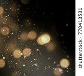 christmas light background. ... | Shutterstock . vector #770413531