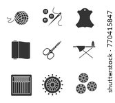 tailoring glyph icons set. wool ... | Shutterstock .eps vector #770415847