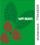 happy holidays word cloud on a... | Shutterstock .eps vector #770418205
