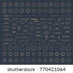 huge rosette wicker border... | Shutterstock . vector #770421064
