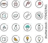 line vector icon set   cafe... | Shutterstock .eps vector #770421961