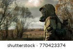 Stalker Soldier In Gas Mask And ...