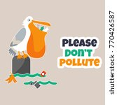bright eco poster stop... | Shutterstock .eps vector #770426587