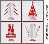 christmas greeting cards set ... | Shutterstock .eps vector #770426905