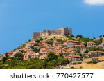 the castle of molyvos against a ...   Shutterstock . vector #770427577