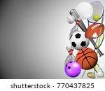 visual drawing of beautiful... | Shutterstock .eps vector #770437825