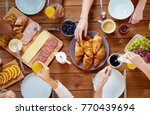 food  eating and family concept ... | Shutterstock . vector #770439694