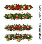 vector christmas fir decoration ... | Shutterstock .eps vector #770442091