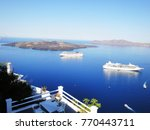 ferries sailing along the... | Shutterstock . vector #770443711