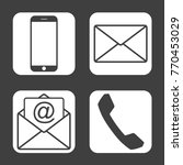 contact icons   simple flat...   Shutterstock .eps vector #770453029