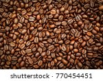 roasted coffee beans... | Shutterstock . vector #770454451