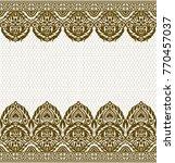 seamless lace pattern  flower...   Shutterstock .eps vector #770457037