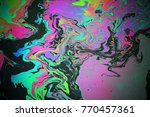 Abstract Colorful Rainbow Oil...