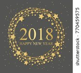 2018 happy new year light text... | Shutterstock .eps vector #770459575