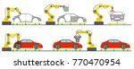 robotic automotive assembly... | Shutterstock .eps vector #770470954