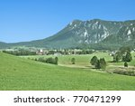 view to village of inzell in... | Shutterstock . vector #770471299