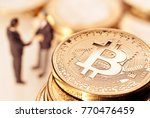 Bitcoin And Businessmen In The...