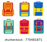set of colored backpacks... | Shutterstock .eps vector #770481871