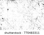 grunge black and white pattern. ... | Shutterstock . vector #770483311