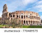 colosseum in rome. italy. | Shutterstock . vector #770489575
