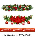vector christmas fir decoration ... | Shutterstock .eps vector #770490811