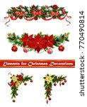 vector christmas fir decoration ... | Shutterstock .eps vector #770490814