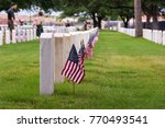 Flags On Headstones