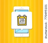 smartphone 3d isometry flat... | Shutterstock .eps vector #770495101