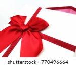 glitter glamour red satin... | Shutterstock . vector #770496664