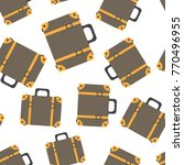 suitcase seamless pattern... | Shutterstock .eps vector #770496955