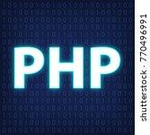 machine code languages  in neon ...   Shutterstock .eps vector #770496991