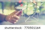 woman hand using smart phone... | Shutterstock . vector #770501164
