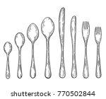Big Set Of Hand Drawn Fork ...