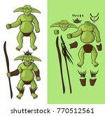 set of goblins v1. goblin... | Shutterstock .eps vector #770512561