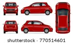red car vector mock up for... | Shutterstock .eps vector #770514601
