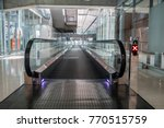 a walkway in an empty hall | Shutterstock . vector #770515759