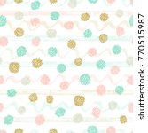 polka dot background with paint ... | Shutterstock .eps vector #770515987