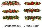 vector christmas fir decoration ... | Shutterstock .eps vector #770516584
