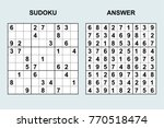 vector sudoku with answer 109.... | Shutterstock .eps vector #770518474